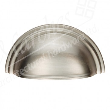 Victorian Cup Pull - Satin Nickel