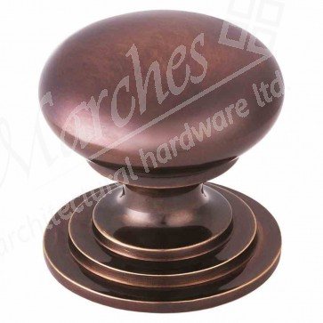 Carlisle - Victorian Cupboard Knob 42mm - Dark Bronze