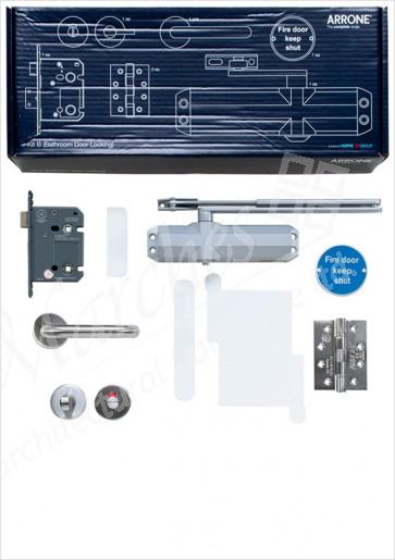 Complete Fire Door Kit for Locking Bathroom Doors