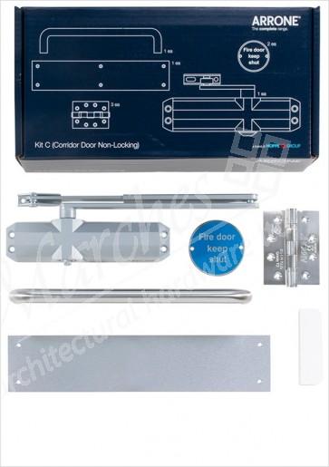 Complete Fire Door Kit for Non-Locking Corridor Doors