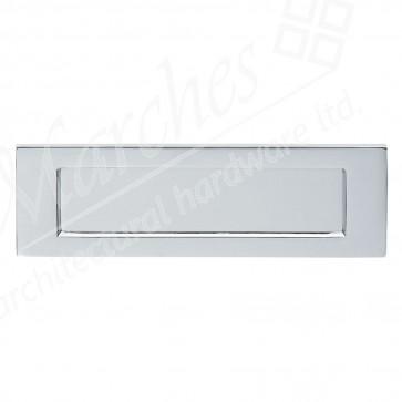 Satin Chrome Plain Letter Plate 257 x 80mm