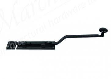 French Door Bolt - Black - Various Sizes