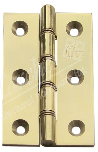 """3"""" DPBW Butt Hinges (pair) - Polished Brass"""