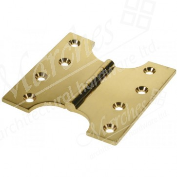 "4""x2""x4"" Parliament Hinge - Polished Brass (pair)"