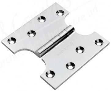 "4""x2""x4"" Parliament Hinges - Polished Chrome (pair)"