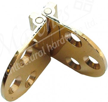 Self Supporting Folding Table Hinge Pair Satin Brass