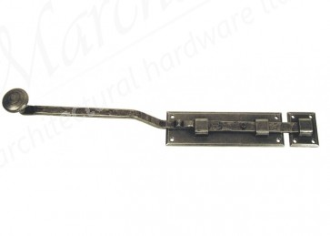 10'' French Door Bolt - Pewter