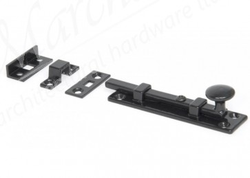 Universal Straight Door Bolt - Black - Various Sizes