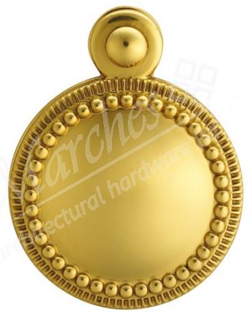 Carlisle Beaded Covered Escutcheon - Polished Brass