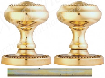 Carlisle Half Sprung Georgian Mortice Knob 54mm - Polished Brass