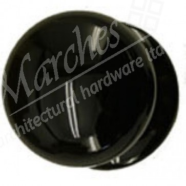 Porcelain Cupboard Knob - Black