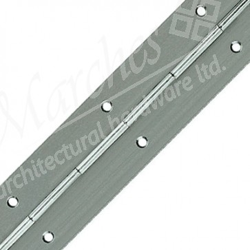 Steel Piano Hinge 40mm x 710mm - Nickel Plated