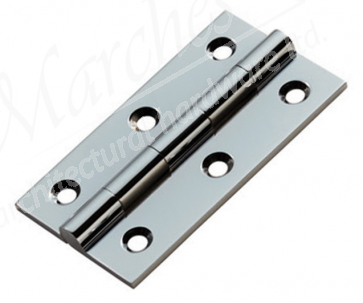 Solid Brass Butt Hinges (pair) - Polished Chrome