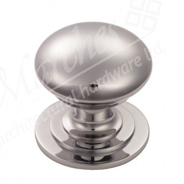 Victorian Cupboard Knob - Polished Chrome