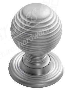 Queen Anne Cupboard Knob - Satin Chrome