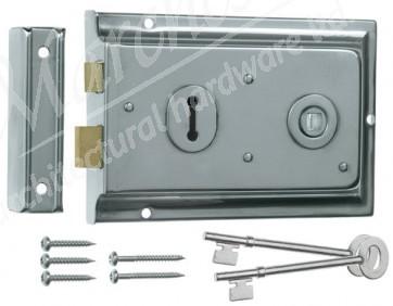 Rim Lock Lipped - Polished Chrome