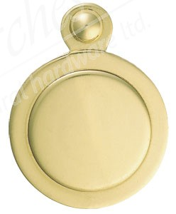 Victorian Covered Escutcheon - Polished Brass