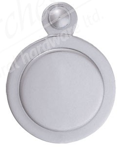 Victorian Covered Escutcheon - Satin Chrome