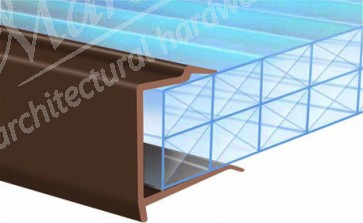 PVC Roof End Closures 25mm  - Brown