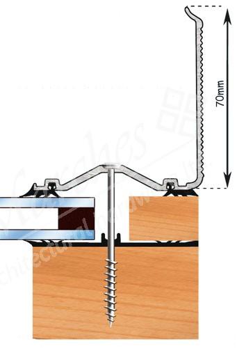 Exitex - Capex 60 Wall Finishing Profile + Rag 55 Aluminium 6m