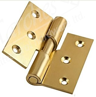 "3"" Steel Rising Butt Hinge LH (pair) - Electro Brass"