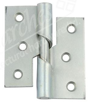 "3"" Steel Rising Butt Hinge LH (pair) - Zinc"