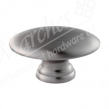 Oval Knob - Satin Nickel
