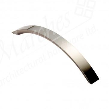 Curved Convex Grip Handle - Satin Nickel