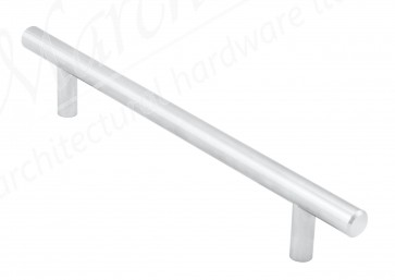 T-Bar Handle, 220mm (160mm cc) - Satin Chrome