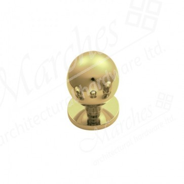 Ball CB Cupboard Knob - Polished Brass