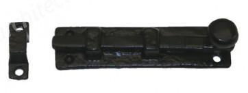 "Kirkpatrick - 4"" Straight Knob Bolt Antique Black 1131"