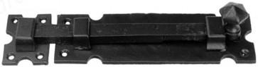 "8"" Kirkpatrick Straight Knob Bolt - Antique Black"