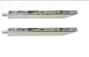 "6"" Box Type Flush Bolt - Satin Nickel (SOLD IN PAIRS)"