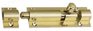 "2.5"" Straight Bolt Polished Brass"