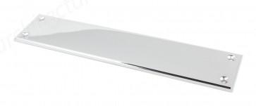 Small Art Deco Fingerplate - Polished Chrome