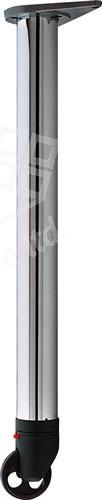 Leg W Castor Chrome 710mm 60mm