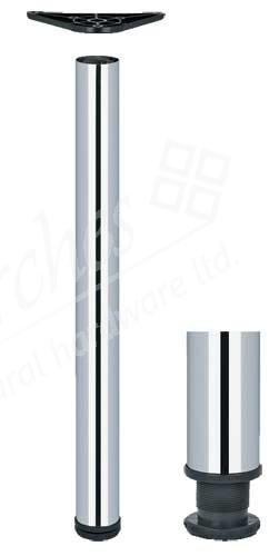 Table leg, 710 mm high, ø 60 mm