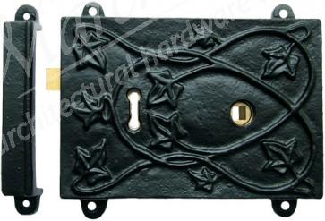 """Kirkpatrick - Rim Lock Set (RLC451) 6 1/4"""" x 4 1/2"""" - Black"""