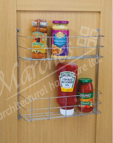 Two Tier Spice Rack 380mm cc x 95mm (D) x 410mm (H)