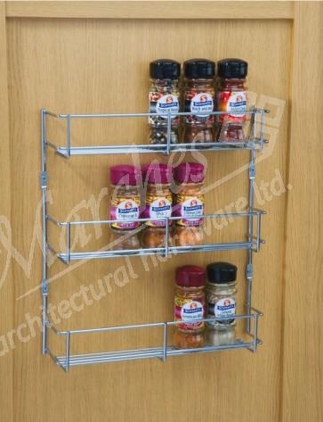 Three Tier Spice Rack 400mm cc x 55mm (D) x 316mm (H)