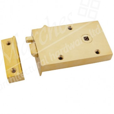 Right Hand Bathroom Latch - Polished Brass