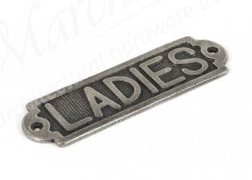 Ladies Sign - Antique Pewter