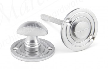 Round Bathroom Thumbturn - Satin Chrome