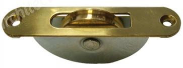Pulley - Brass Round Face & Brass Wheel