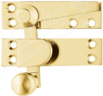 Beehive Quadrant Fastener - Polished Brass