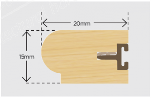 20mm x 15mm Timber Staff Bead and Carrier 3m - Primed (Pack 10)
