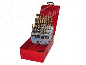 A095 No.201 HSS Tin Drill Set 19p Metal Case
