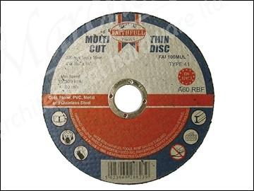 Multi Cut Thin Cut Off Wheel 100mm x 1.0 x 16 Pack of 10