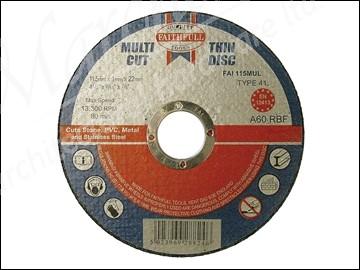 Multi Cut Thin Cut Off Wheel 115mm x 1.0 x 22 Pack of 10