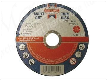 Multi Cut Thin Cut  Off Wheel 125mm x 1.0 x 22 Pack of 10
